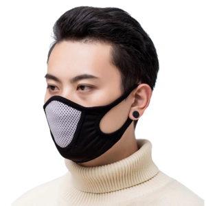 Mund Nasen Maske Mesh Sportmaske Weiß - Schwarz